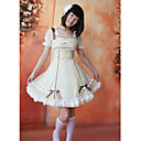 Short Sleeve Knee-length Camellia Floral Cotton Country Lolita Dress