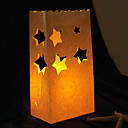 Star Shaped Cut-out Paper Luminary (Set of 4)