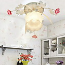 Floral Ceiling Light in Rose Decorration