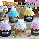Plastic Cupcake Tissue Box Favor – Assorted Colors