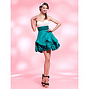 A-line Sweetheart Short/ Mini Satin Cocktail Dress