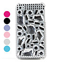 Trendy Protective PVC Case with Crystals Cover for iPhone 4, 4S