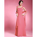 A-line Floor-length Chiffon Satin Mother of the Bride Dress With A Wrap