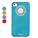 Protective Electroplated Diamond Circle Design Back Case for iPhone 4 / 4S