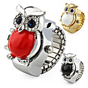 Cute Owl Case Metal Ring Watch