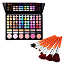 Silky 78 Colors Makeup Eye Shadow Palette and Blushers (with Free Brushes)