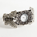 Butterfly Cuff Bracelet Watch With Rhinestones