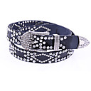 Fashion Diamond Leather Belt