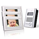 Three 7 Inch Color TFT LCD Video Door Phone Intercom System (1 Alloy Camera)