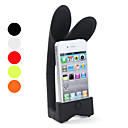 Protective Stand with Rabbit Ear Speaker for iPhone 4 and 4S (Assorted Colors)