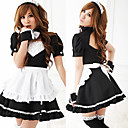 Hot Girl Black Polyester Maid Suit (4 Pieces)