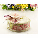 Floral Fabric Covered Liftup Lid Jewelry Box