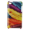 Retro Protective Hard Case for iPod Touch 4 (Feather)