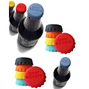 Colorful Silicone Beer Bottle Cap Stopper (6-Pack, Random Color)