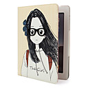 Protective Sweet Style PU Leather Case and Stand for iPad 2 (Girl)