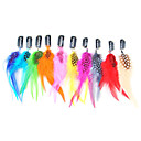 20 Pcs Mixed Color Clip in Feather Hair Extensions