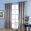 (Two Panels) Belonging Jacquard Room Darkening Thermal Curtains