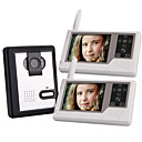 Two 2.4GHz Wireless 3.5 Inch Touch Screen Monitors Video Door Phone with Camera