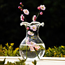 Old Style Clear Glass Vase Centerpiece