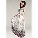 Strapless ColumnPolyester Chiffon Maxi Dress (More Colors)