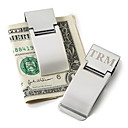 Personalized Silver Metal Money Clip