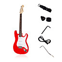 Strat Custom Electric Guitar with Accessories in Red/Black Color