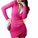 Night Club Style Deep V-Neck Bodycon Mini Dress