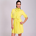 TS Chiffon Two-tone Short Sleeve Dress (More Colors)