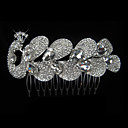 Alloy With Rhinestone And Pearl Butterfly Bridal Comb