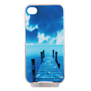 Fashion Cover for iPhone4 and 4S With Colorful LED - Sea Bridge