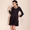 TS Elastic Knitted Lace Cozy Dress