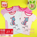 Cute Dog Print Girl's Cotton Shirt