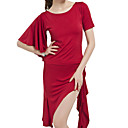 Women's Polyester With Ruffles Latin Dance Outfit More Colors