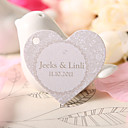 Personalized Heart Shaped Favor Tag - Floral Prints (Set of 60)