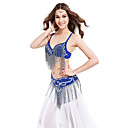Performance Dancewear Ladies Polyester With Beading Belly Top And Belt