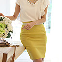 Elastic High Waist Pencil Skirt
