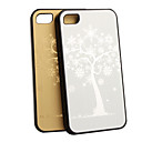 New Silver Tree protective Back Case with LCD Film for iPhone 4 4s