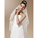 One-tier Tulle With Bead Fingertip Length Wedding Veil (More Colors)