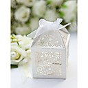 White Stars Laser Cut Favor Box (Set of 12)
