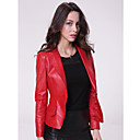 Long Sleeve Turndown Collar Party/ Career Lambskin Leather Jacket With Buttons  (More Colors)