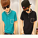 Simple Cotton Men's Short Sleeve Polo Shirt