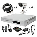 Anko - 4-Kanal-h. 264 CCTV DVR-Kit (500g Festplatte + 4 wasserdichte Outdoor-Farbkameras)
