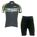 Kooplus-Men's Short Sleeve Cycling Suits (Road Green)