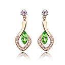 Luxurious High Quality Alloy And Crystal 18K Gold Plated Earrings (More Colors)