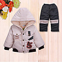 Winter Casual Babies' Thick Cotton Hoodie Set
