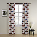 (Two Panels) Cars Print Kids Energy Saving Curtains