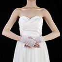 Lace Wrist Length Half Finger Bridal Gloves