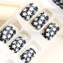 Dream Stars Nail Art Tips With Glue (24pcs)