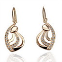 Fashion Rhinestone Alloy Drop Earrings
