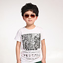 Zebra Pattern Boys' Cotton Short Sleeve T-shirt